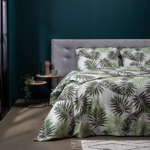 Pretty Palm - Groen - 140 x 220