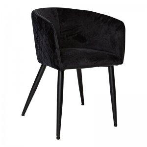 Set van 2 - Eetkamerstoel Luiza - Zwart - Showroom Model
