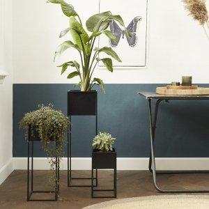 Set van 3 - Plantenbak Veronica - Zwart