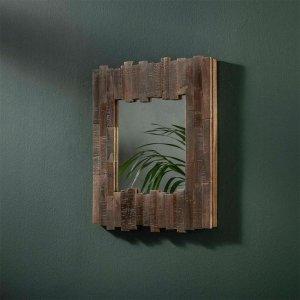Spiegel Sali - 45x45 cm - Bruin