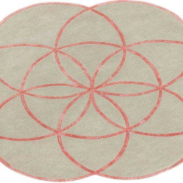 Vloerkleed Lotus - Pink - Roze - 200 x 200