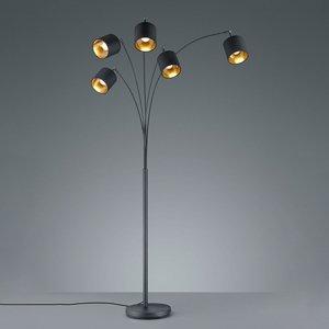Vloerlamp Tommy - Metaal - Zwart Mat