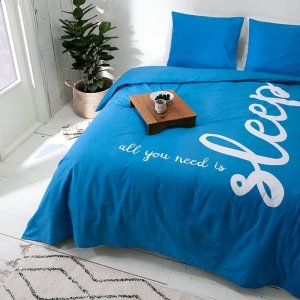 All You Need Is Sleep - Blauw - 140 x 240