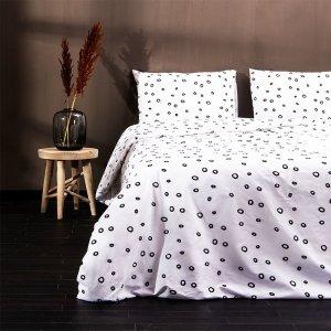 Luxurious Dots - Wit - 140 x 200