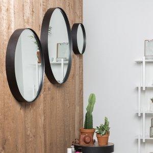 Spiegel Raj - Zwart