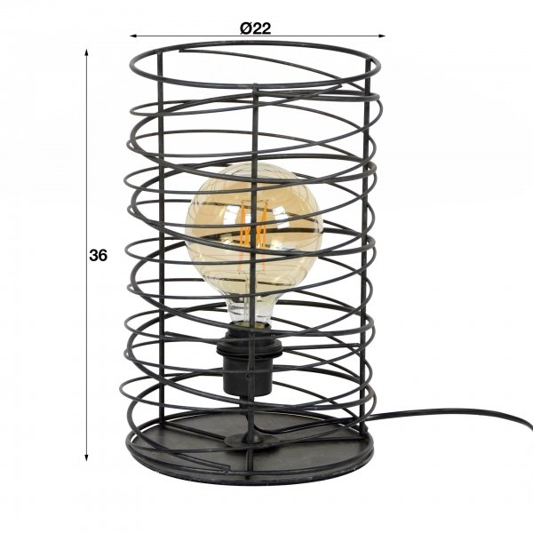 Tafellampen Antraciet