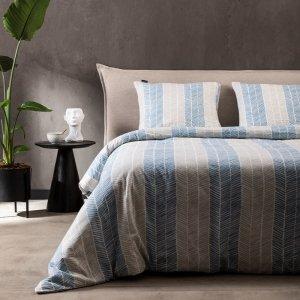 Flanel - Jasmijn - Blauw - 140 x 200