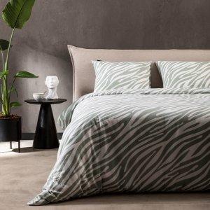 Flanel - Zebra Marty - Groen - 140 x 240
