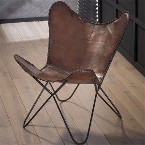Vlinderstoel Paco - Set van 2 - Bruin